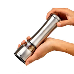 manual kitchen grinder UK - Stainless Steel Pepper Grinder Manual Salt Pepper Mill Grinder Portable Kitchen Mill Muller Tool free shiping