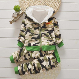 Baby Camouflage Jackets Australia - good qulaity winter baby boy clothes sets 2019 new fashion camouflage jacket+pant 2pcs suits toddler boy kids clothes sets tracksuit