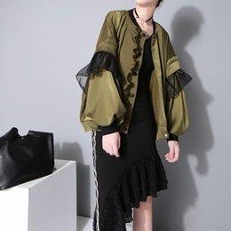 $enCountryForm.capitalKeyWord Australia - 2016 Autumn New Arrival Lace Lantern Sleeve Bomber Jacket Fashion Style Vintage Jacket Coat Women