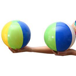 Rainbow Color Polo Australia - Fashion Inflatable Beach Ball Water Polo Summer Swimming Sport Toy for Kids Birthday Christmas Halloween Gift Rainbow Color 23cm