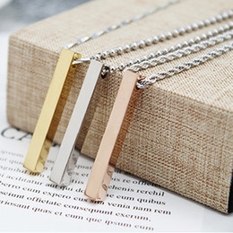 $enCountryForm.capitalKeyWord Australia - wholesale 20pc laser engravable blank stainless steel bar-shaped necklace charms DIY customization gift 40*5*5mm in assorted colors