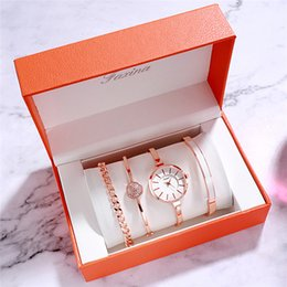 $enCountryForm.capitalKeyWord Australia - FAXINA New Watch Four-Piece Fashion Bracelet Bracelet Set Female Watch Personality Trend Ladies Watches