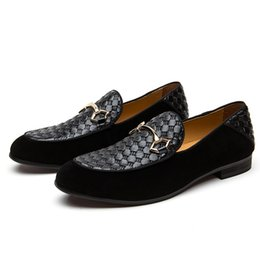 $enCountryForm.capitalKeyWord NZ - Alligator Fashion Casual Men Shoe male metal roound toes slip on pat Genuine Leather Black Slip-on Men Loafers Dress Flats for Driving Party