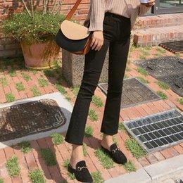 Korean Jeans Hot Pants Australia - Fashion Long Pants Women Jeans Cotton Denim Trousers Loose Korean Light Boot Cut Trousers Hot Sale