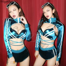 HipHop dance costumes online shopping - hiphop bar DS performance nightclub DJ singer gogo lead girls costume woman freeshipping