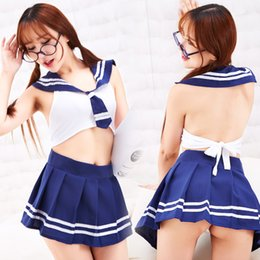 Underwear Play NZ - women Sexy lingerie Uniform temptation skirts suits sleeveless cosplay student lingerie camisole sexy Bespoke underwear DS role-playing