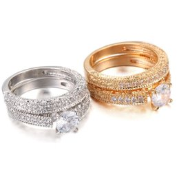 $enCountryForm.capitalKeyWord Australia - New Wedding double Rings For Women Trendy Party Gift Engagement Romantic suit Rings Fashion Female Jewelry