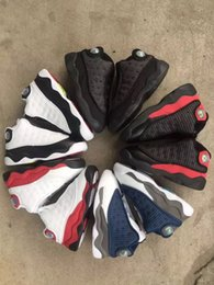 27 basketball NZ - Children 13 XIII Basketball Shoes Kids 13s Sports Boys Girls Youths Little Baby Athletic Sneakers Cheap for sale size 22-27 Queen