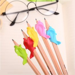 Wholesale Paper Pencils NZ - Pencil Holding Practise Device For Correcting Pen Postures Grip Learning Partner Children Students Stationery 33pcs lot