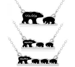 $enCountryForm.capitalKeyWord Australia - New Mama Bear Letter Necklace Family Alloy Pendant Necklaces Fashion Jewelry