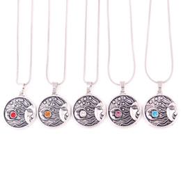 $enCountryForm.capitalKeyWord UK - HY115 Fashion Jewelry Cheap Viking retro pagan Moon Stars religious Pendant necklace Universe Amulet necklaces for unisex