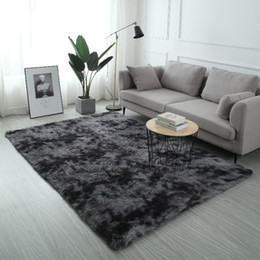 Blue room rug online shopping - Plush Fur Carpet Livingroom Soft Shaggy Carpet Kids Room Hair Bedroom Rug Sofa Coffee Table Floor Mat Modern Large Rugs