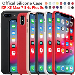 original case apple for iphone NZ - Phone case Original Official Silicone band LOGO iPhone Case For iPhone7 8 For iPhone 7 8 Plus Case For Apple Cover Retail Box