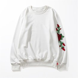 black rose blouse Australia - 2019 Brand Mens Sweatshirt Designer Pullover S Letter Print Rose Stitches Streetwear Hiphop High Long Sleeves Hoodie Luxury Blouse B101082L