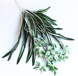 hanging decorative vines UK - Fake flower silk imitation Cymbidium plant wall green plant wall hanging decorative flower rattan vine wall hanging flower W1236