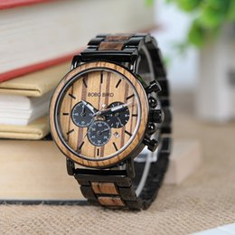 $enCountryForm.capitalKeyWord NZ - BOBO BIRD Watch Men Metal and Wooden Case Auto Date Male Sport Wristwatch Accept Logo Customize B-P09