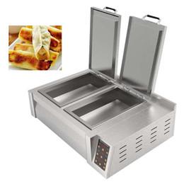 Toptan satış 2650W Elektrikli kantin restoran kahvaltı bar snack barda tava çoklu işlev için kızarmış hamur makinesi ısıtma