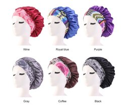 $enCountryForm.capitalKeyWord Australia - New Silk Night Cap Hat Double side wear Women ethnic Style Head Cover Sleep Cap Satin Bonnet for Beautiful Hair Best Quality C349