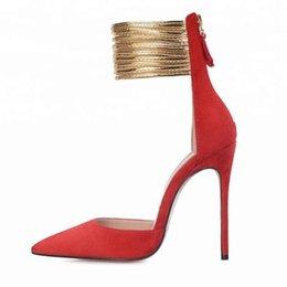 $enCountryForm.capitalKeyWord Australia - Goddess2019 Fit Fine Sharp Surround Bring Sexy Red Woman Latest Fashion Sandals Wind Night Shoe