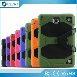 anti dust computer NZ - Military Extreme 3 in 1 Robot Hybrid Heavy Duty Shockproof protective case Computer tablet Case For ipad air ipad 2 3 4 ipad mini MQ50