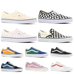 41c3bd2c10 Cheap Brand Vans old skool fear of god men women canvas sneakers classic  black white YACHT CLUB red blue fashion skate casual shoes