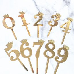 number cakes cupcakes 2020 - vent & Party Cake Decorating Supplies Number 0-9 Cake Topper Birthday Anniversary Wedding Party digit cupcake topper