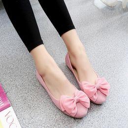 Ladies Flat Heel Footwear Australia - 2019 New Women Flats Shoes Low-cut Slip-on Shoes Woman Low Heels Faux Suede Boat Shoes Ladies Office Career Solid Footwear