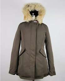 Warmest Goose Down Parka Australia - Fashion Woolrich Women Arctic Anorak Down jacket Woman Winter goose down Outdoor Thick Parkas Coat Womens warm outwear jackets #996660