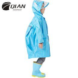 $enCountryForm.capitalKeyWord Australia - QIAN 3-10 Years Old Fashion Waterproof Kids Boys Girls Raincoat Hooded Rain Poncho Cartoon Rain Gear Children Coat Suit