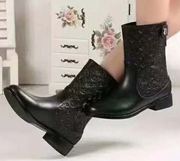 $enCountryForm.capitalKeyWord NZ - Fashion Designer Women Boots Best Quality Star Trail Lace-up Ankle Boots With heavy-duty soles leisure lady boots By toy99 L2211