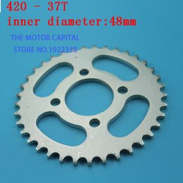 quad buggies Canada - 420 428 37T Tooth 48mm 76mm Rear Chain Sprocket fit ATV Quad Pit Dirt Bike Buggy Go Kart Motorcycle