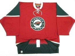 Minnesota Wild Jerseys Australia - Cheap custom MINNESOTA WILD KOHO 6100 RED HOCKEY JERSEY stitch add any number any name Mens Hockey Jersey XS-6XL
