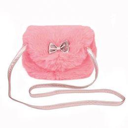Discount pretty girl handbags - MoneRffi Mini Cute Fur Children Girl Kids Mini Cross Body Bag Fashion Bowknot Pretty Shoulder Messenger Bag Purse Tote H