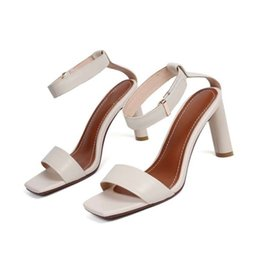 Trend Sandals Australia - Sexy2019 High Years 19 With Genuine Leather Sandals Woman Trend Women's Shoes