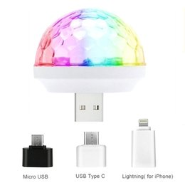 magic ball disco NZ - Hot Mini Stage Light Disco elfin Voice Control Self-propelled Crystal Magic LED Disco Ball USB Colorful Music Light Bulb Lamp night light