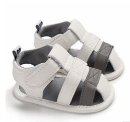 Toddler leaTher sandals boys online shopping - Baby boys sandals toddler kids hollow breathable PU leather first walkers baby shoes infant boys soft bottom non slip toddler shoes F7429