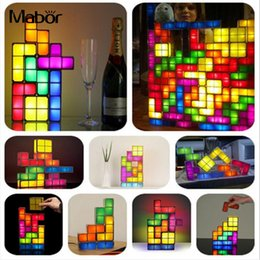 DIY Tetris Puzzle Light Stackable LED Desk Lamp Night Light Night Lamp DIY  Atmosphere Decorate LED Tetris Block 6cfe520dd2d9
