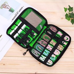 digital organizer pouch UK - Gadget Organizer USB Cable Storage Bag Travel Digital Electronic Accessories Pouch Case USB Charger Power Bank Holder Kit Bag
