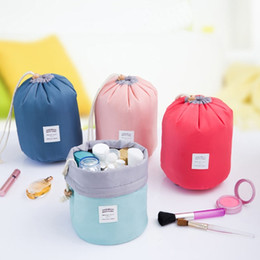 drawstring cosmetic bag Australia - Cosmetic Bag Barrel Shaped Makeup Bags Drawstring Makeup Organizer Travel Toiletry kit Storage Bags Fashion 4 Colors Optional YW1707