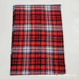 Wholesale cashmere ponchos capes resale online - Hot Selling Ladies Blanket Scarves Warm Tartan Scarf Women Winter Shawl Ponchos Et Capes Thick Cashmere Winter Scarf Tassels