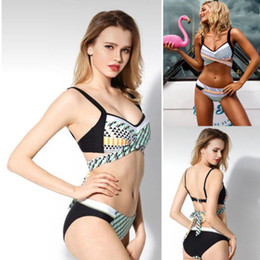 Wholesale swimwear for womens for sale – plus size 2020 Summer Womens Swimwear Bandage Bikini Set Push up Bra Swimsuit Bathing Suit Swimwear for Women Size S XL