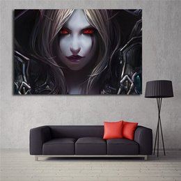 Painting Faces NZ - Sylvanas Windrunner Face World Of Warcrafts Game Wallpaper Art Canvas Poster Painting Wall Picture Print Home Bedroom Decoration