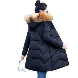 warm parkas for women NZ - 6XL 7XL Large Size Women Winter Coat Big Fur Down Parkas Winter Hooded Coat Female Slim Winter jacket for Women Warm Long Parkas Y200101