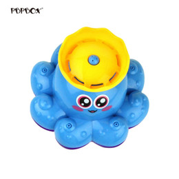 baby bath shower spray UK - Bath Toy Spray Water Octopus Toys Floating Rotate Bathtub Shower Pool Bathroom Toy Water Pump Electronic Sprayer For Baby
