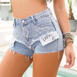 $enCountryForm.capitalKeyWord Australia - High waist women shorts hole 2019 summer hot sale jeans womens nightclub DJ costume pole dance denim shorts pantaloncini donna