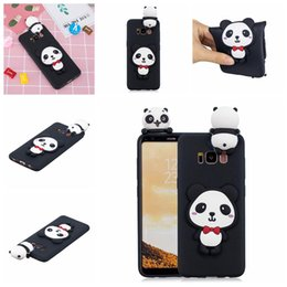 $enCountryForm.capitalKeyWord Australia - For Samsung Galaxy S8 Plus Cases Pasted 3D Funny Panda Dog Cat Pineapple Sticking a Little Silicon Doll 61 Models Option