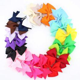 High Quality Hair Clip Bow Australia - 3.5 inch high quality grosgrain ribbon hair bows,pinwheel bows hair accessories,baby hairbows WITHOUT CLIP