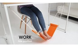 Relaxing Beds Australia - 2pcs lot small hammock to Relieve foot fatigue to relax office tools Large Hanging bed as household products HAMMOCK