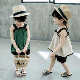 $enCountryForm.capitalKeyWord Australia - 2PCS Toddler Kids Baby Girls Casual T-shirt Tops + Harem Pants Outfits Sets Short Sleeve Summer Fashion Clothes For Girls