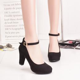 18a025827aa9 Chunky Mary Jane Shoes Australia - Women Mary Jane Shoes Ankle Strap  Platform Pumps High Heels